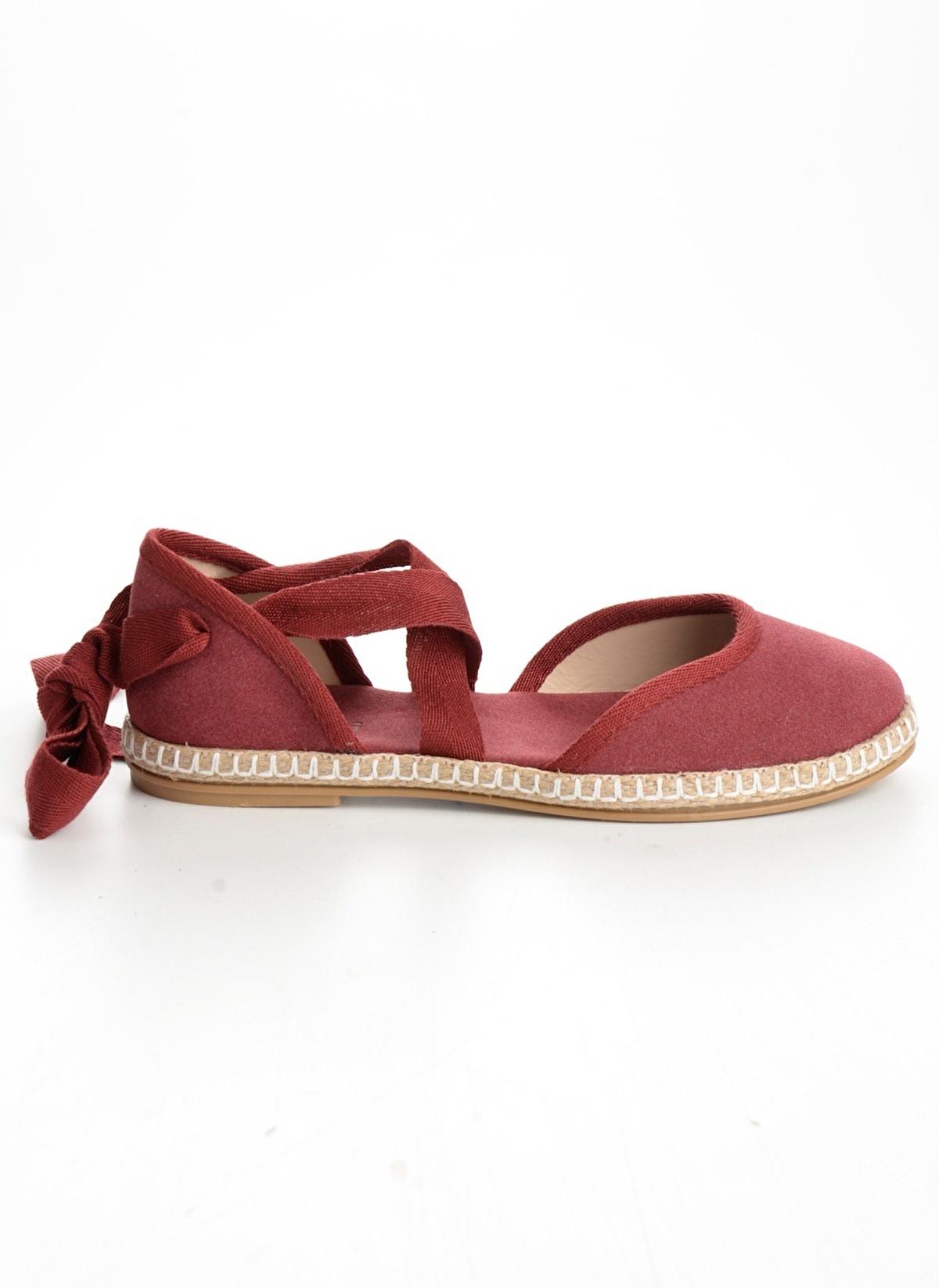 Bambi D0105500872 Bordo Kadın Sandalet